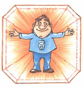 Schutzschild des Diamond Shield Crystal Zapper