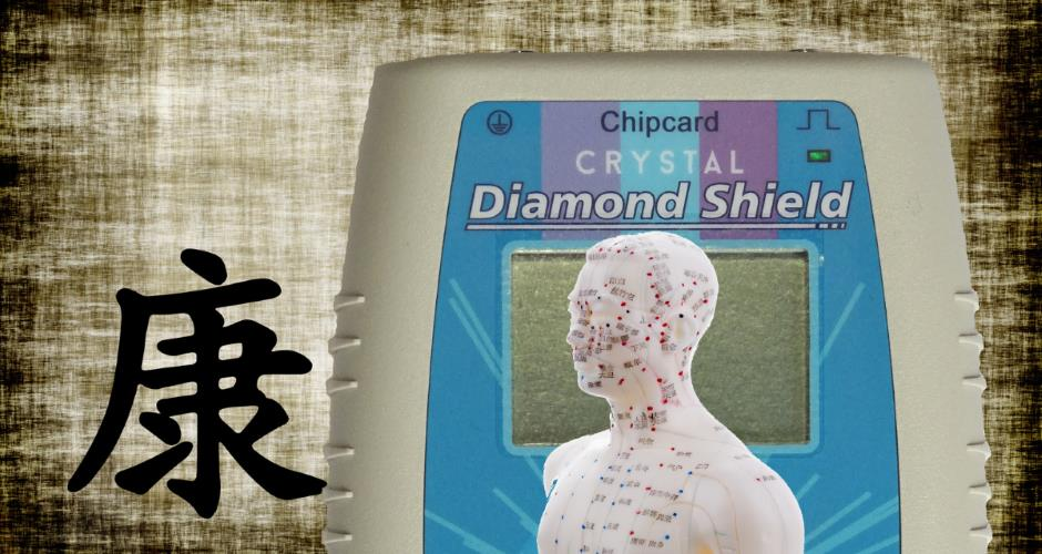 Diamond Shield Crystal Zapper, Synthese aus Akupunktur und Clark Therapie